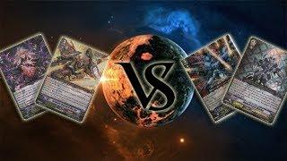 getlinkyoutube.com-Royal Paladin and Nova Grappler Vs Shadow Paladin and Kagero - Cardfight Vanguard Tag Duel Game 1
