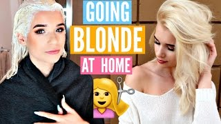 How I Went COMPLETELY BLONDE at Home!! *INSANE RESULTS*