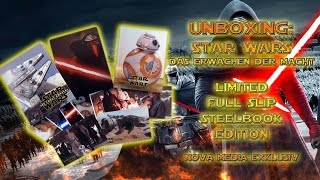 getlinkyoutube.com-Unboxing - Star Wars - The Force awakens - Full Slip Steelbook Edition - Nova Media Exklusiv