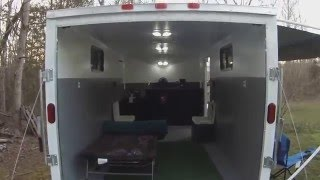 getlinkyoutube.com-7x14 Cargo Trailer converted into a Toy Hauler.