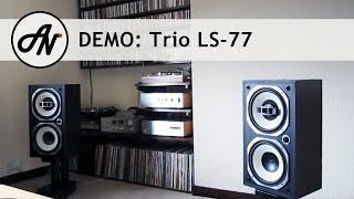 getlinkyoutube.com-Trio LS-77 - 1976 Vintage Coaxial Speakers, Yamaha CD-S2000, Yamaha AS-2000