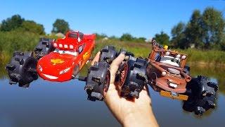 getlinkyoutube.com-Молния Маквин Тачки Дисней Гонки с Мэтром на больших колёсах - Монстр трак CARS Llightning McQueen