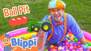 getlinkyoutube.com-Ball Pit with Blippi - Colorful Surprise Educational Videos for Kids