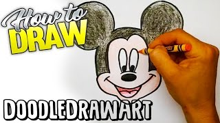 getlinkyoutube.com-Drawing: How To Draw Mickey Mouse Step by Step!  For kids!