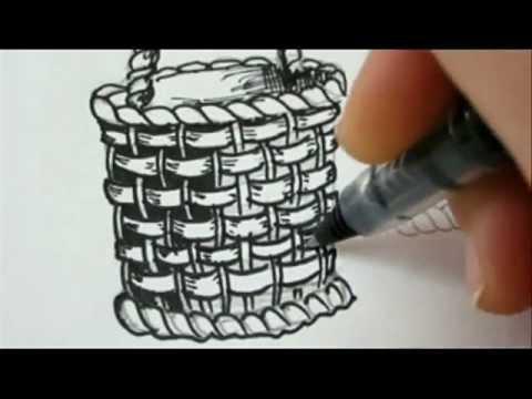 FANTASTIC BASKET !! - Draw A Basket For Flowers or Fruit