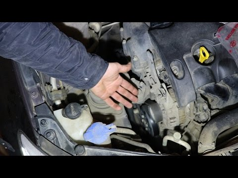 Hyundai Elantra J4 (HD). G4FC. Замена ремня генератора и ролика