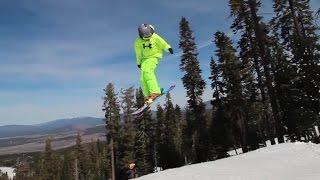getlinkyoutube.com-COOL VIDEO!! Little ski kids do HUGE jumps and tricks in terrain park