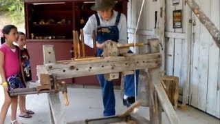 getlinkyoutube.com-Spring Pole Wood Lathe