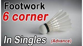getlinkyoutube.com-Badminton Footwork - 6 Corners in singles (Advance)