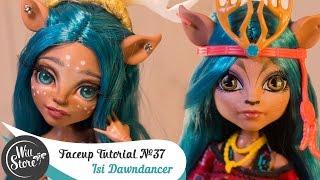 getlinkyoutube.com-Faceup Tutorial №37 Isi Dawndancer OOAK Monster High Custom doll repaint by WillStore
