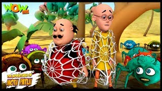 Makdi Ka Jala   Motu Patlu In Hindi   3D Animation Cartoon For Kids