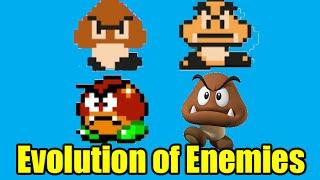 getlinkyoutube.com-Evolution of Enemies in the Mario Series and Graphics Comparison (Super Mario Maker)