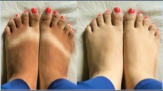 Feet Whitening Pedicure At Home - Baby Soft Feet, Remove Suntan,Skin Polishing, Remove Foot Wrinkles