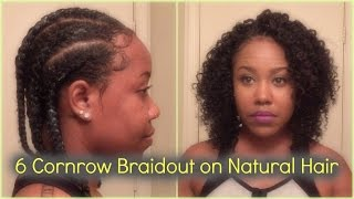 getlinkyoutube.com-Cornrow Braidout on Natural Hair [Perfect for Transitioning]