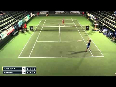 Nishioka Goes Behind The Back For Aptos Challenger 2015 Hot Shot