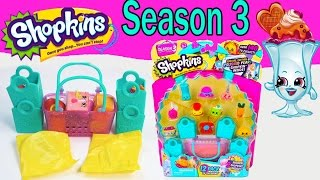 getlinkyoutube.com-Shopkins Season 3  Opening Video 12 Pack Mystery Surprise Toy Unboxing Shopping Blind Bags