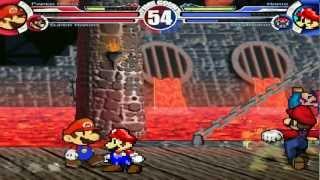 getlinkyoutube.com-Paper Mario & Super Mario vs SSBM Mario & SMA4 Mario MUGEN Battle!!!
