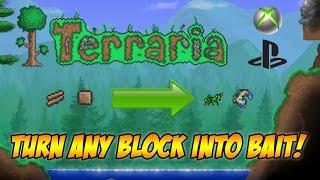 getlinkyoutube.com-Terraria: Turn Wood/Dirt into Bait/Animals! Terraria 1.2.4 Spawning Glitch CONSOLE/MOBILE!