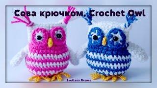 getlinkyoutube.com-Crochet amigurumi Owl  Instruction Амигуруми. Сова крючком