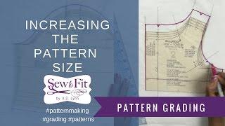 getlinkyoutube.com-Grading up a Fashion Pattern to a larger size