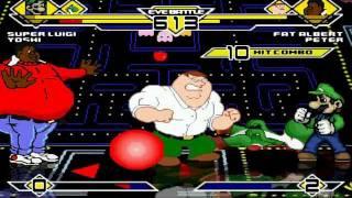 getlinkyoutube.com-Super Luigi and Yoshi vs Fat Albert and Peter MUGEN Battle!!!