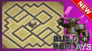 getlinkyoutube.com-BEST New Th11 War Base! [Build + Replays]   The Spectre   Anti-Mass Golem, Gowiwi & Queen Walk