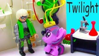getlinkyoutube.com-MLP Fashem's Twilight Mad Scientist Lab Unicorn Magic My Little Pony Pinkie Pie Video