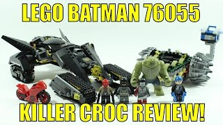 LEGO DC BATMAN KILLER CROC SEWER SMASH 76055 SET REVIEW