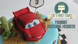 getlinkyoutube.com-Making a Fondant Lightning McQueen From Disneys Cars How To Tutorial