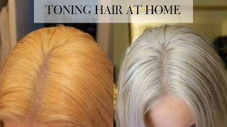 getlinkyoutube.com-TONING BLEACHED HAIR AT HOME | Wella T18
