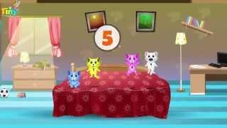 getlinkyoutube.com-Five Little Kittens | English nursery rhymes for children