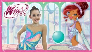 getlinkyoutube.com-Winx Club - Magico tutorial di ginnastica ritmica
