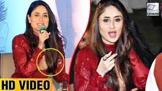 Kareena Kapoor Tries To Cover Her Cleavage With Hair | LehrenTV