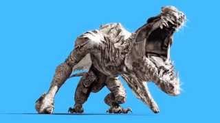 getlinkyoutube.com-Green Screen Angry Big Dragon Lands - Footage PixelBoom