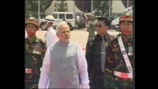 getlinkyoutube.com-PM Modi arrives in Dhaka to a ceremonial welcome