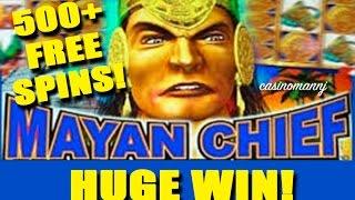 Mayan Chief Slot - *HUGE WIN* - Slot Machine Bonus