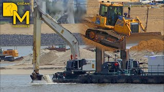 getlinkyoutube.com-BUILDING A NEW ISLAND ++ HITACHI ZAXIS 870 EXCAVATOR + KOMATSU DOZER