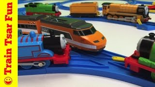 getlinkyoutube.com-TOMY BLUE TRACK THOMAS THE TANK ENGINE - Track Master Train Battle