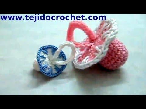 Souvenirs chupete en tejido crochet tutorial paso a paso.