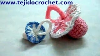 getlinkyoutube.com-Souvenirs chupete en tejido crochet o ganchillo tutorial paso a paso.