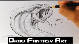 getlinkyoutube.com-How to Draw a Snake - Draw Fantasy Art