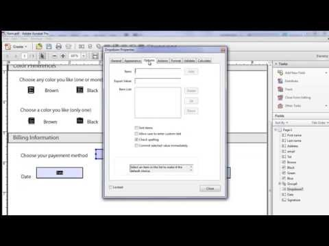 How to Make an Interactive PDF Form Using Adobe Acrobat X Pro (Beginners)