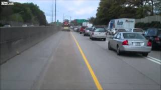 getlinkyoutube.com-Rollover MVA Response With Atlanta Fire On I-20
