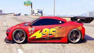 getlinkyoutube.com-Grand Theft Auto V - Funny Video Lightning McQueen (GTA 5 Mods Gameplay)