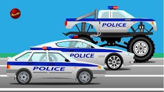 getlinkyoutube.com-Мультики про машинки. Полицейские машины. Погоня. Машины для детей.