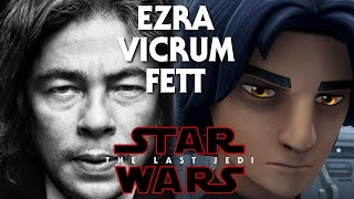 Star Wars Episode 8 The Last Jedi Man In Black! Vicrum Fett/Ezra (Benicio Del Toro)