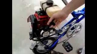 getlinkyoutube.com-Xe đạp gắn máy cắt cỏ pro