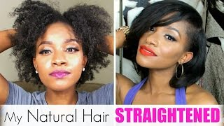 getlinkyoutube.com-Straightening My Natural Hair│Red Pro Hybrid Titanium Review