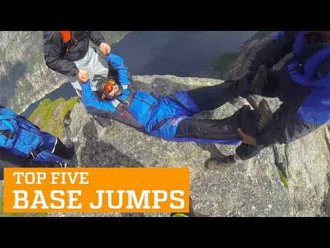 TOP FIVE BASE JUMPS   PEOPLE ARE AWESOME