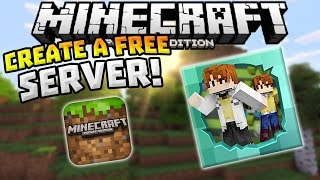 getlinkyoutube.com-CREATE A FREE SERVER in MCPE!!! - Play With Friends - Minecraft PE (Pocket Edition)